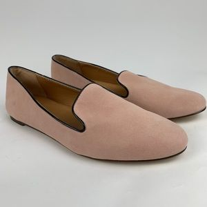 J.CREW NEW Addie Suede Pink Loafers Flats 9 Shoes